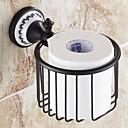 abordables Juegos de Accesorios de Baño-Soporte para Papel Higiénico Alta calidad Tradicional Latón 1 pieza - Baño del hotel