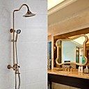 cheap Shower Faucets-Shower Faucet - Antique Rose Gold Wall Mounted Ceramic Valve Bath Shower Mixer Taps / Brass