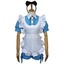 """billige Eyeliner-Inspirert av Svart Tjener Ciel Phantomhive Anime  """"Cosplay-kostymer"""" Cosplay Klær Lapper Topp / Hodeplagg / Forkle Til Dame Halloween-kostymer"""