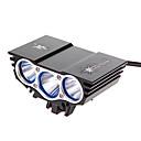 رخيصةأون مصابيح الدراجة العاكسة-اضواء الدراجة اضواء الدراجة ضوء الدراجة الأمامي ضوء الدراجة الخلفي Cree® XM-L U2 ركوب الدراجة 18650 2200 lm البطارية أخضر متعددة الوظائف / IPX-4