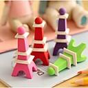 billige Lommeklokke-Eiffeltårnet formet Avtagbart Viskelær (tilfeldig farge)