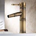 cheap Bathroom Sink Faucets-Traditional Centerset Ceramic Valve One Hole Single Handle One Hole Antique Brass, Bathroom Sink Faucet