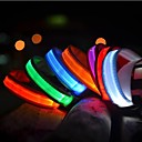 cheap Dog Collars, Harnesses & Leashes-Cat Pets Dog Collar Dog Training Collars LED Lights Electric Glow Solid Nylon Red Green Blue Pink Rainbow