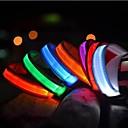 preiswerte Modische Halsketten-Katze Haustiere Hund Halsbänder Training - Hundhalsbänder LED-Lampen Elektrisch Im Dunkeln leuchtend Solide Nylon Rot Grün Blau Rosa
