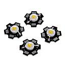 billige LED-kabinetlamper-zdm 5 stk 1w 80-100lm høj lysstyrke chip, høj effekt ledet varm hvid højde 3000-3500k, aluminium substrat (dc3-3.2v 350ma)