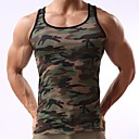 cheap Human Hair Capless Wigs-Men's Sports Active Slim Tank Top - Camouflage Print / Sleeveless