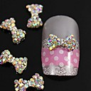 cheap Rhinestone & Decorations-10pcs crystal ab rhinestones beads bow tie 3d alloy nail art decoration