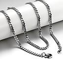 preiswerte Modische Halsketten-Herrn Ketten - Titanstahl Silber Modische Halsketten Schmuck Für Weihnachts Geschenke, Hochzeit, Party