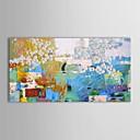 preiswerte Spitzenkünstler Ölgemälde-Hang-Ölgemälde Handgemalte - Abstrakt Zeitgenössisch Segeltuch / Gestreckte Leinwand