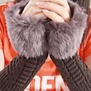 זול עגילים אופנתיים-בלי אצבעות כפפות טלאים דמוי פרווה וינטאג' בגדי ריקוד נשים / חורף