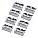 ieftine Aplice de Exterior-Lumina de perete LED-uri LED Reîncărcabil / Rezistent la apă / Decorativ 8pcs
