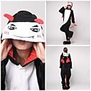 ieftine Imprimeuri-Pijama Kigurumi Diavol Monster Pijama Întreagă Costume Coral Fleece Negru Cosplay Pentru Sleepwear Pentru Animale Desen animat Halloween
