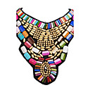 cheap Necklaces-Women's Statement Necklace / Bib necklace - Resin Fashion, Colorful, Festival / Holiday Gold Necklace For Party, Special Occasion, Birthday