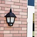 cheap Night Lights-2-LED 1W White Outdoor Solar Power Wall Light With PIR Motino Sensor
