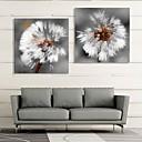 ieftine Includeți cadru interior-Întins Canvas Art Dandelion Set de 2