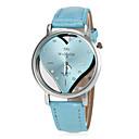 זול סט תכשיטים-בגדי ריקוד נשים שעון יד קווארץ מכירה חמה PU להקה אנלוגי Heart Shape אופנתי שחור / לבן / כחול - אדום כחול ורוד
