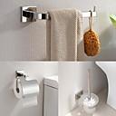 preiswerte Badezimmer Zubehör Set-Bad Zubehör-Set Gute Qualität Moderne Edelstahl 3 Stück - Hotelbad Toilettenbürstehalter Turm Bar Toilettenpapierhalter
