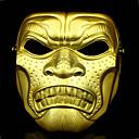 halpa Aikuisten asut-Naamio Aikuisten Miesten Halloween Karnevaali Masquerade Festivaali / loma PVC Hopea / Kultainen Karnevaalipuvut
