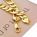 baratos Colares-Homens Colares em Corrente - Chapeado Dourado Dourado Colar Jóias Para Presentes de Natal, Diário, Esportes