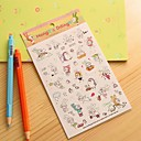 ieftine Rechizite de Școală-autocolant mic jurnal de iepure (6 buc)