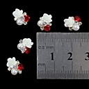 cheap Rhinestone & Decorations-10pcs 3d rose flower pearl rhinestone diy accessories nail art decoration