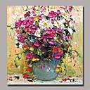 billige Blomster-/botaniske malerier-Håndmalte Still Life Kvadrat, Klassisk Tradisjonell Hang malte oljemaleri Hjem Dekor Et Panel
