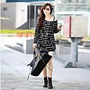 preiswerte Individuelle Bekleidung Zubehör-Damen Buchstabe - Schick & Modern / Street Schick T-shirt Moderner Stil / Sexy / Druck / Frühling / Herbst / Winter