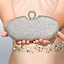 cheap Clutches & Evening Bags-Women's Bags Metal Evening Bag Crystal / Rhinestone Gold / Black / Silver / Wedding Bags / Wedding Bags