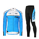 cheap Other Nail Tools-Mysenlan Men's Long Sleeves Cycling Jersey with Tights - Green Blue Bike Clothing Suits, Thermal / Warm, Quick Dry, Ultraviolet