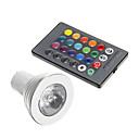 preiswerte LED Glühbirnen-3 W 250-300 lm GU10 LED Spot Lampen 1 LED-Perlen Dekorativ RGB 85-265 V