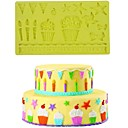 olcso Sütőeszközök-Bakeware eszközök Szilikon Környezetbarát / 3D / DIY Torta / Keksz / Csokoládé sütőformát 1db