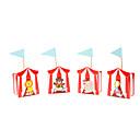 billige Julefestartikler-røde sirkusdyr utforming bryllup favør boks-sett med 12