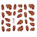 abordables Papel de Aluminio para Manicura-1 pcs Calcomanías de Uñas 3D Etiqueta engomada de la transferencia arte de uñas Manicura pedicura Encantador Flor / Dibujos / El plastico / Pegatinas de uñas 3D