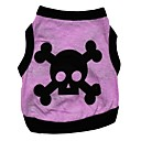 cheap Dog Clothes-Cat Dog Shirt / T-Shirt Dog Clothes Heart Skull Purple Cotton Costume For Spring &  Fall