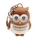 cheap Cell Phone Cases & Screen Protectors-LED Lighting Key Chain Toys Key Chain LED Lighting Sound Owl ABS Cartoon Illuminated Luminous Fluorescent Pieces Christmas Birthday