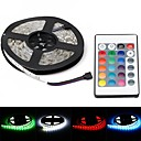 billige Religiøse smykker-ZDM® 5 m Lyssett 300 LED 5050 SMD 1 24Kjør fjernkontrollen / 1 DC-kabler RGB Vanntett / Dekorativ 12 V 1set / IP65