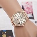 abordables Relojes de Moda-Mujer Reloj de Pulsera Aleación Banda Destello / Moda Plata / Dorado / Oro Rosa / Un año / Jinli 377