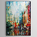 halpa Öljymaalaukset-Hang-Painted öljymaalaus Maalattu - Abstrakti Comtemporary Kangas / Venytetty kangas