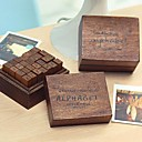 cheap Decorative Objects-28pcs Wooden Wood Party Office / Career Stamps Stamp Blocks