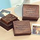 preiswerte Wanduhren auf Leinwand-28pcs Hölzern Holz Party Büro / Geschäftlich Briefmarken Schreibblöcke