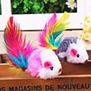 preiswerte Hundespielsachen-Katzenfedern Lockspielzeug für Katzen Maus Textil Für Katze Kätzchen