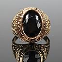 baratos Anéis-Homens Anel de declaração - Vintage, Fashion 7 / 8 / 9 Dourado / Preto Para Presentes de Natal / Festa / Diário