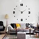 baratos Bricolage Relógios de Parede-Feito na China / Moderno / Contemporâneo Revestimento em Metal Redonda Interior,1 x Bateria AA / AA