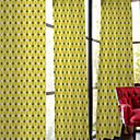 abordables Juego de Joyas-Corredizo Anillo Lazo de tela Dos Paneles Ventana Tratamiento De Diseño, Estampado Dormitorio Poliéster Material cortinas cortinas