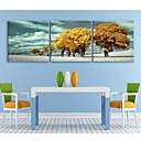 halpa Pikkulahjat - kynttilät-Maisema Kasvitiede 3 paneeli Neliö Painettu Wall Decor Kodinsisustus