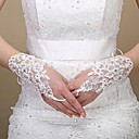cheap Party Gloves-Cotton / Tulle Wrist Length / Elbow Length Glove Charm / Stylish / Bridal Gloves With Embroidery / Solid