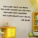 ieftine Acțibilde de Perete-Oameni Vintage Cuvinte & Citate Desene Animate Perete Postituri Cuvinte și citate autocolante de perete Autocolante de Perete Decorative,