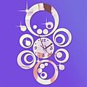"""levne Nástěnné hodiny-20 """"h moderní kruhové kruhy 3d diy akrylové zrcadlo nástěnné hodiny"""
