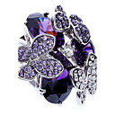 cheap Rings-Women's Statement Ring - Zircon, Cubic Zirconia, Imitation Diamond Butterfly, Animal Luxury, Fashion One Size Purple For Party / Alloy