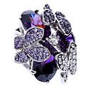 preiswerte Moderinge-Damen Statement-Ring - Zirkon, Kubikzirkonia, Diamantimitate Schmetterling, Tier Luxus, Modisch Eine Größe Purpur Für Party / Aleación